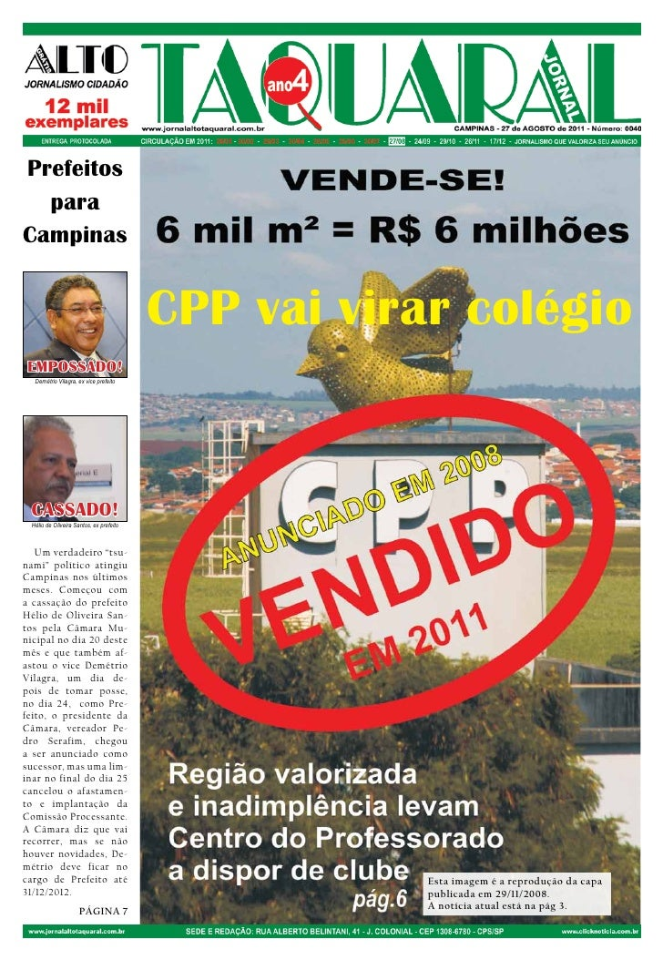 Prefeitos  paraCampinas                                         CPP vai virar colégio EMPOSSADO!  Demétrio Vilagra, ex vic...