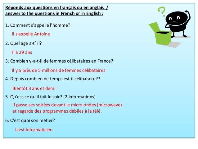 Réponds aux questions en français ou en anglais / answer to the questions in French or in English : 1. Comment s'appelle l...