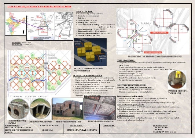 CASE STUDY ON JAUNAPUR SLUM RESETTLEMENT SCHEME AAKRITI RAWAT ARC-1024 B.ARCH, 10th SEM. (2010-2015) SUBMITTED TO : CASE S...