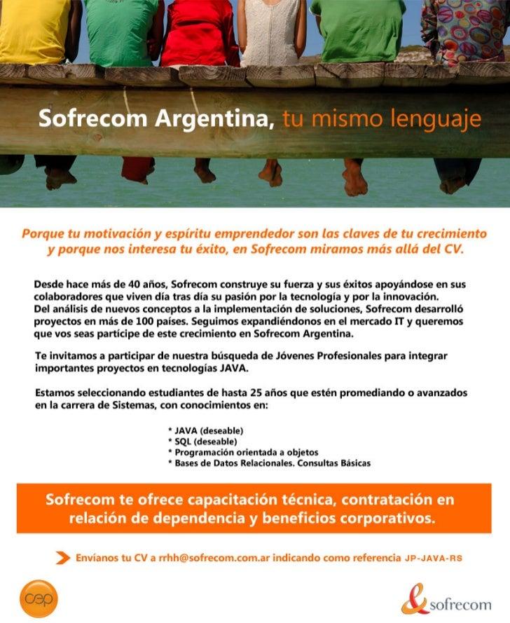 Sofrecom Argentina. Programas de Capacitación