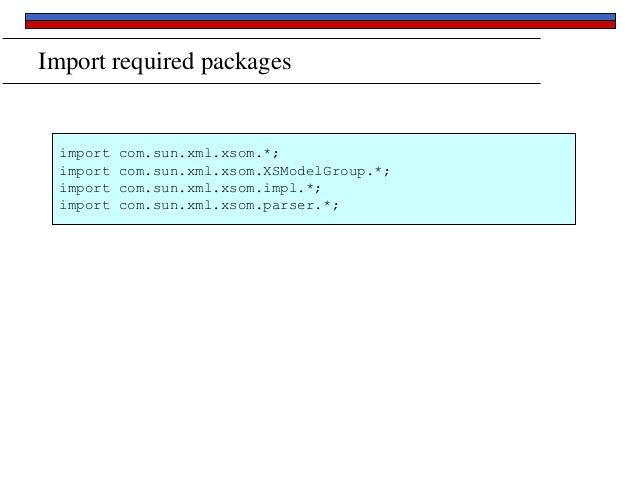 Java and XML Schema