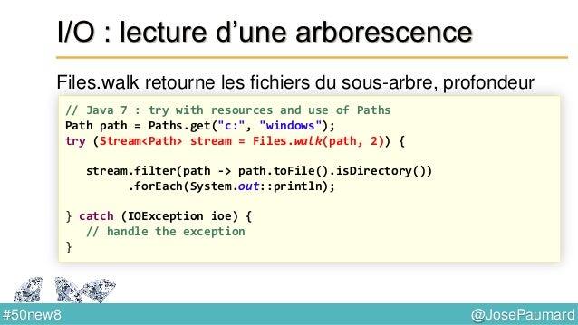 @JosePaumard#50new8 List : sort Tri une liste en place, prend un comparateur // removes an element on a predicate Collecti...