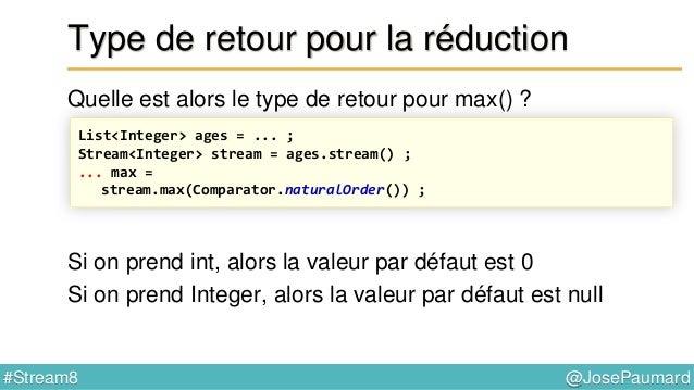 @JosePaumard#Stream8 Fonction du Spliterator Méthodes à implémenter Implémentations // interface Spliterator int character...