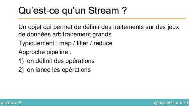 @JosePaumard#Stream8 Apparté sur les Comparator Méthode thenComparing() // interface Comparator default <U> Comparator<T> ...