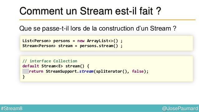 @JosePaumard#Stream8 Apparté sur les Comparator Méthode thenComparing() // interface Comparator default <U extends Compara...