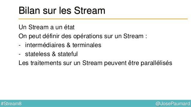 @JosePaumard#Stream8 Réduction Généralisons la réduction