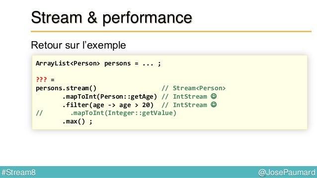 @JosePaumard#Stream8 Réduction Exemple 1 : - constructeur : Supplier - accumulateur : Function - combiner : Function () ->...