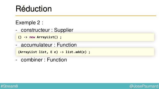 Java 8 Streams & Collectors Patterns, performance, parallélisation @JosePaumard #Stream8