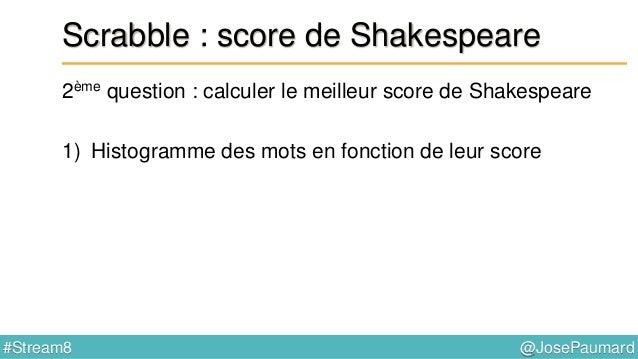 @JosePaumard#Stream8 Scrabble : mot possible ? 4ème question : peut-on écrire ce mot ? Function<String, Map<Integer, Long>...