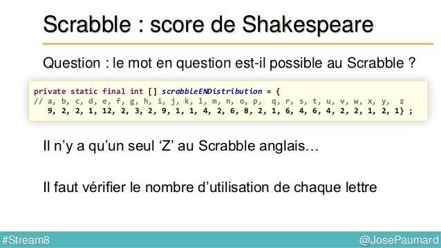 @JosePaumard#Stream8 Scrabble : et si l'on prend les blancs ? 5ème question : et si l'on utilise les blancs disponibles ? ...