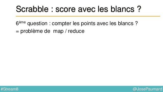 @JosePaumard#Stream8 Scrabble : et sur le plateau de jeu ? 7ème question : « lettre compte double » ? Que faire de cet Opt...