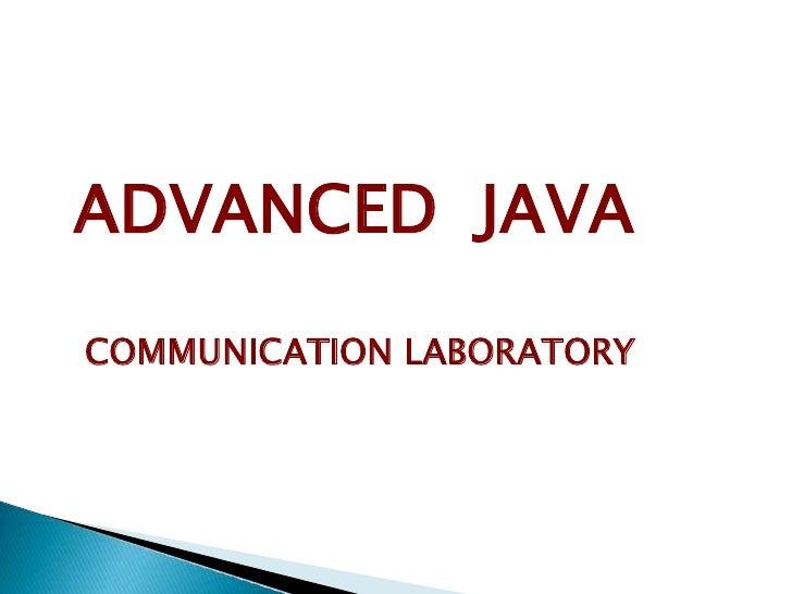 Java adv
