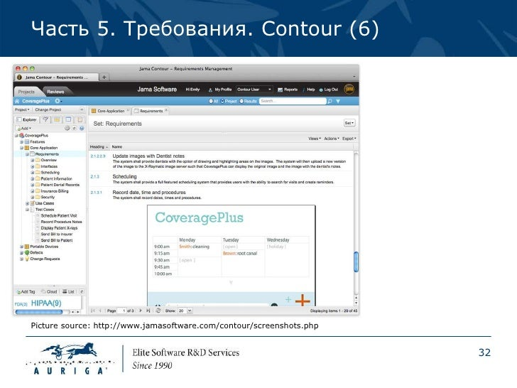 Часть 5. Требования. Contour (6)Picture source: http://www.jamasoftware.com/contour/screenshots.php                       ...