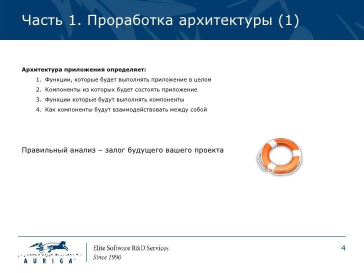 Часть 1. Проработка архитектуры (1)Архитектура приложения определяет:   1. Функции, которые будет выполнять приложение в ц...