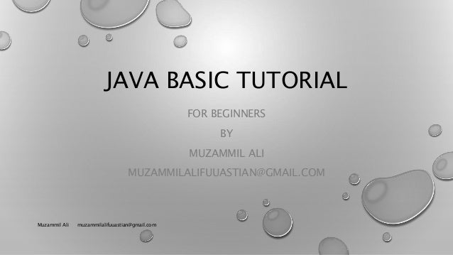 Java basic-tutorial for beginners