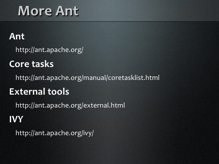 Java Builds with Maven and Ant