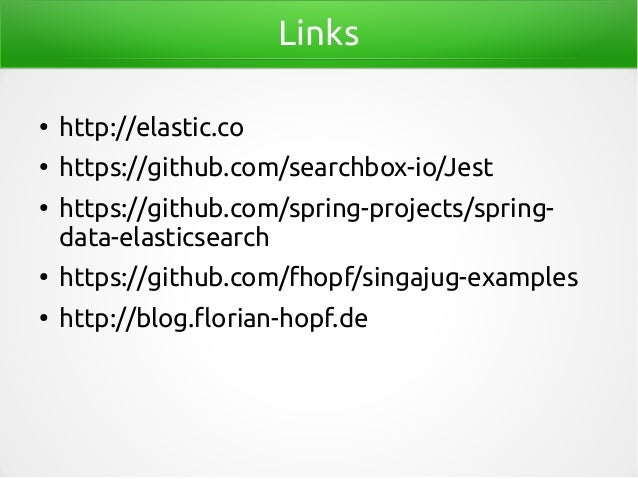 Java clients for elasticsearch