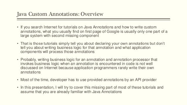 custom annotation in android
