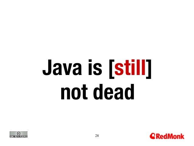 Java is [still]  not dead 28