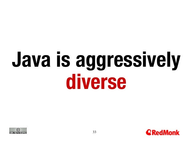 Java is aggressively diverse 33