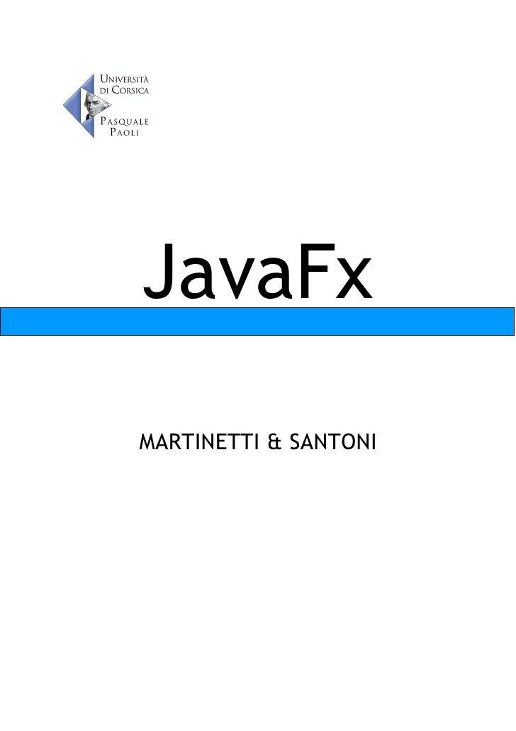 JavaFx MARTINETTI & SANTONI