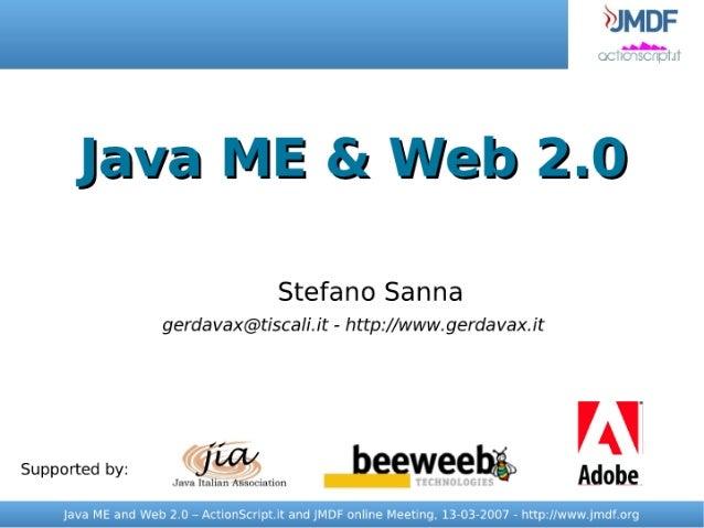 Java ME and Web 2.0