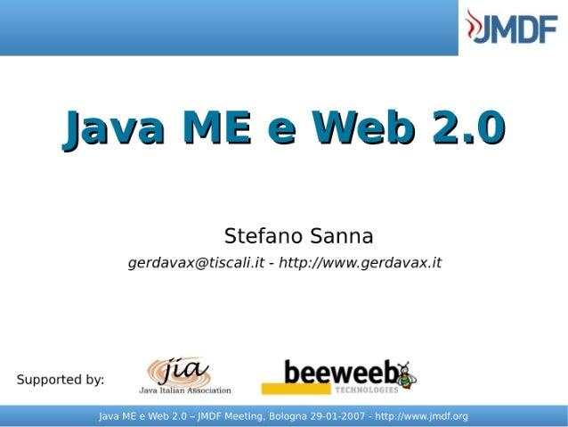 Java ME e Web 2.0