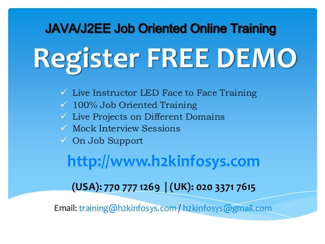 Register FREE DEMO Live Instructor LED Face to Face Training 100% Job Oriented Training Live Projects on Different Doma...