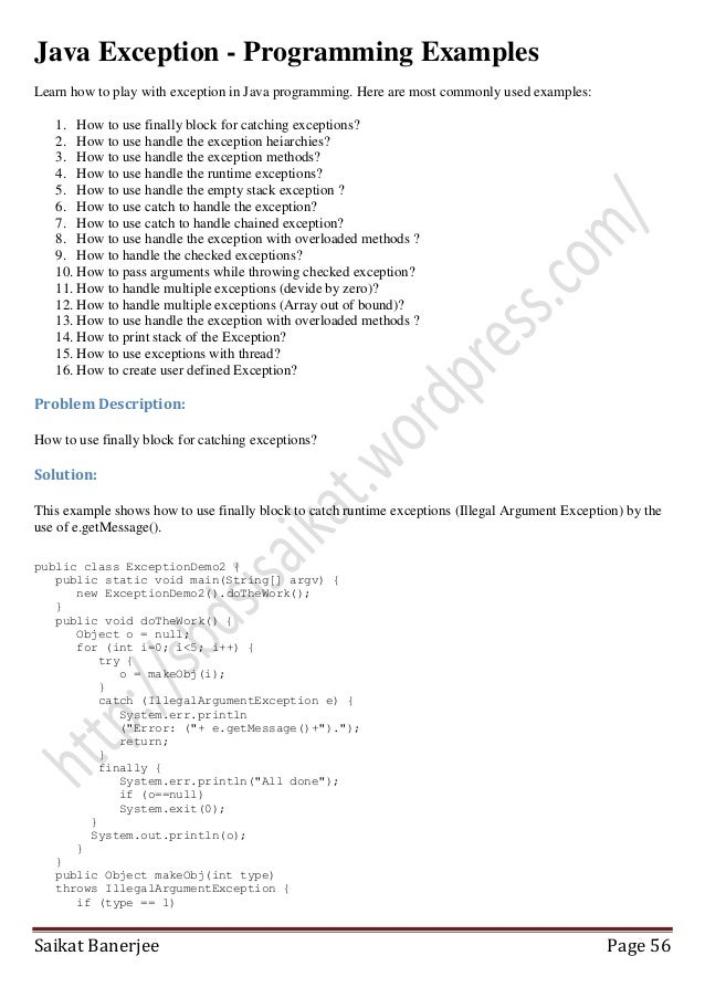 Java programming-examples