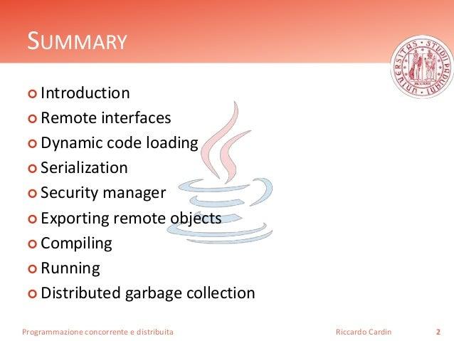 Java - Remote method invocation