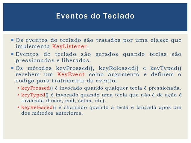 Java Swing Keylistener. Key Listener Interface Event