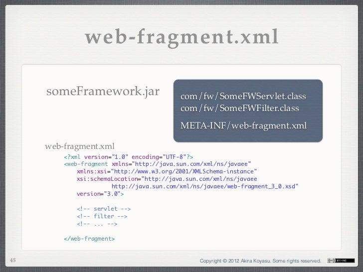 web-fragment.xml     someFramework.jar                     com/fw/SomeFWServlet.class                                     ...