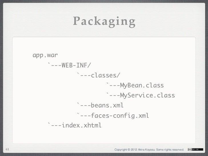 Packaging     app.war         `---WEB-INF/                 `---classes/                    ...