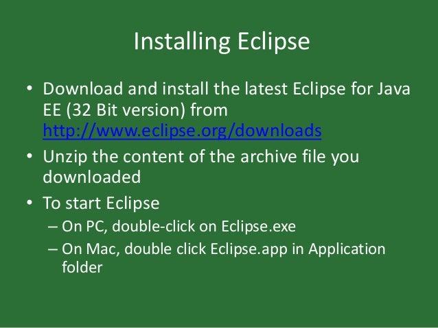 Download 32 Bit Eclipse For Mac