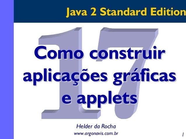 Java 2 Standard Edition  Como construir aplicações gráficas e applets Helder da Rocha www.argonavis.com.br  1