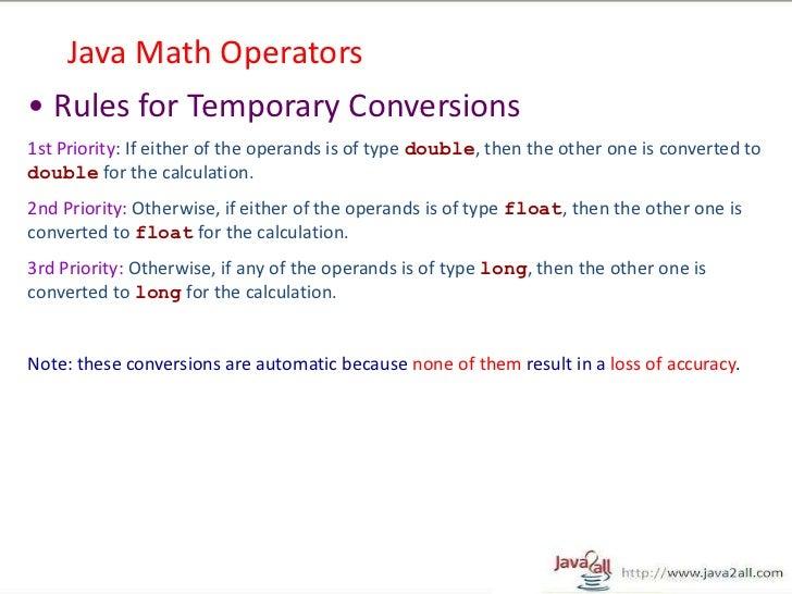 basic core java up to operator