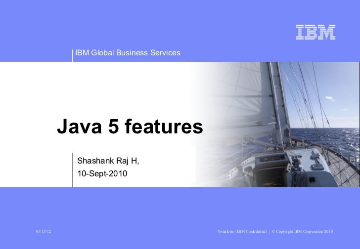 Shashank Raj H, 10-Sept-2010 Java 5 features