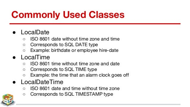 Java 8 date & time api