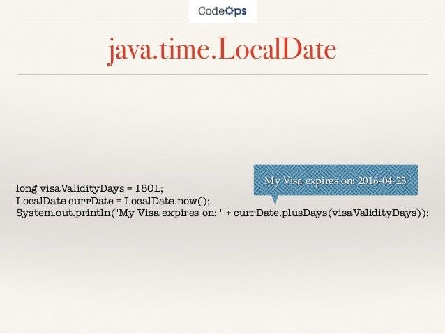 Java 8 Date and Time API