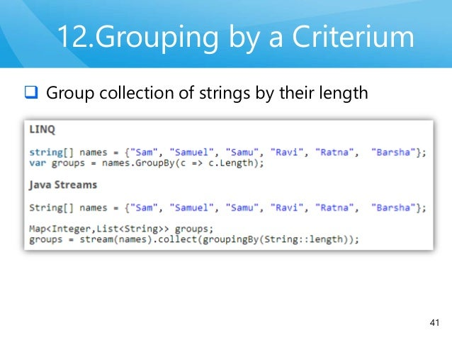 java 8 group by