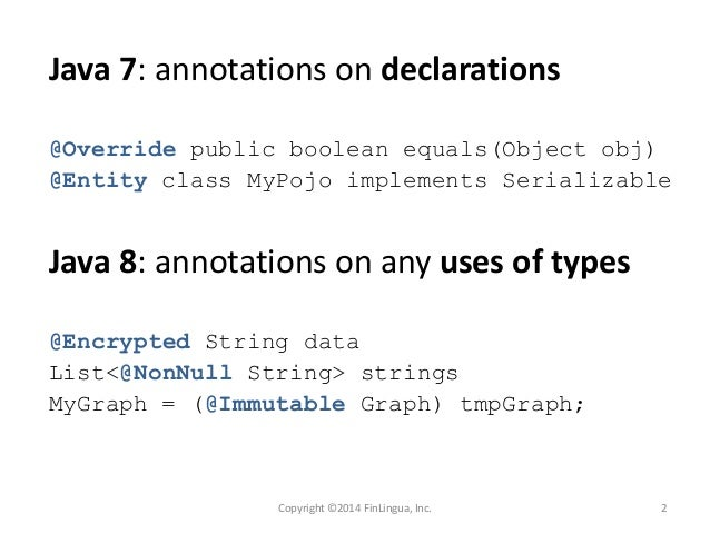 writing annotations in java