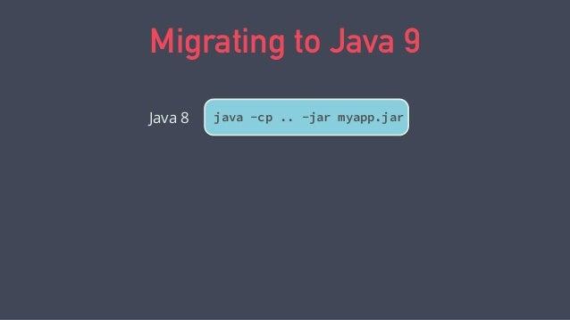 Migrating to Java 9 java -cp .. -jar myapp.jarJava 8