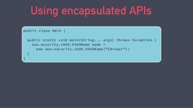 jdeps -jdkinternals Main.class Main.class -> java.base Main -> sun.security.x509.X500Name JDK internal API (java.base) JDK...