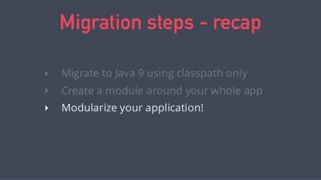 Thank you. bit.ly/java9book @javamodularity http://bit.ly/java9course Java 9 Modularity: First Look code @ bit.ly/java9mig