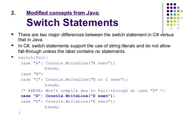 the difference between java and c This lesson introduces you to java programming by presenting some of the similarities and differences between java and c++ an initial word about java and c+.