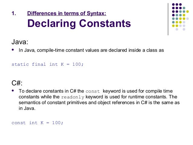 difference between c and java pdf
