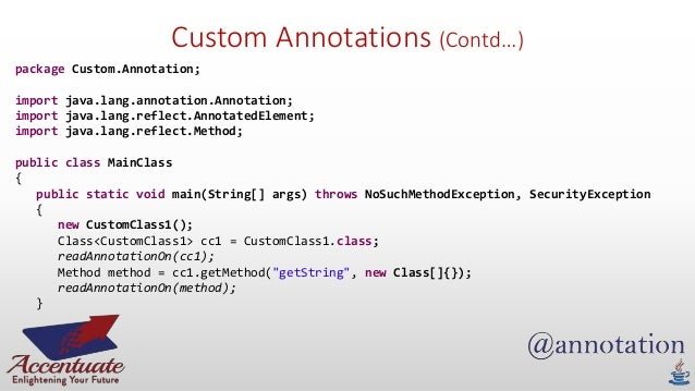 Writing custom annotations in java java custom annotation and parsing using reflection tutorial with leadtools java custom annotation and parsing using reflection tutorial with leadtools altavistaventures Image collections