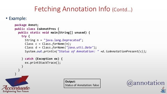 How to write custom annotations in java