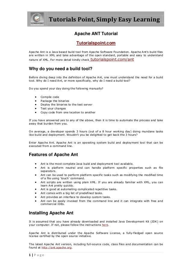 Java ant tutorial