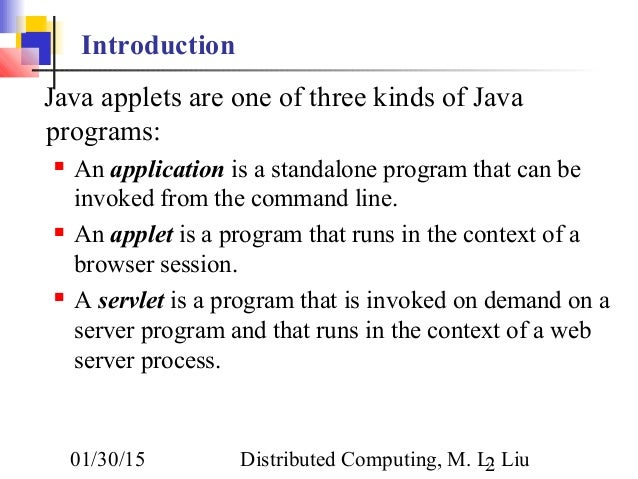 Creating a java application and applet ppt video online download.